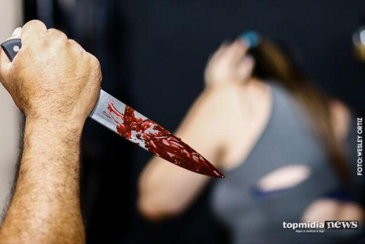 Idoso fere namorada de 18 anos com facão em Aquidauana