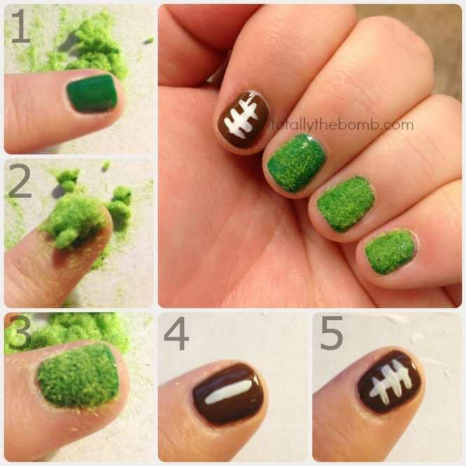 Here S A Curated List Of 15 Football Nail Art Design Tutorials You Will Fall In Love
