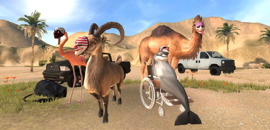 Rob a Bank as a Wheelchair-Bound Dolphin in 'GOAT Simulator: Payday