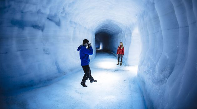 Into the glacier is a tour that takes you into Langjökull glacier in Iceland.