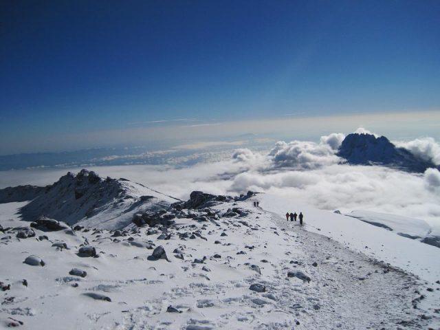 mount kilimanjaro hikers underway 640x480 Volcanoes to Climb in East Africa
