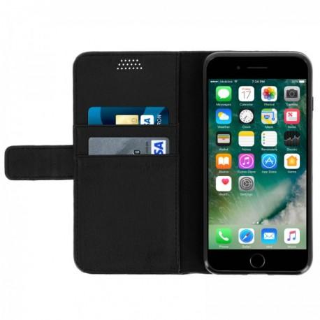 etui cuir portefeuille iphone 7 iphone 8 iphone se 2020 noir