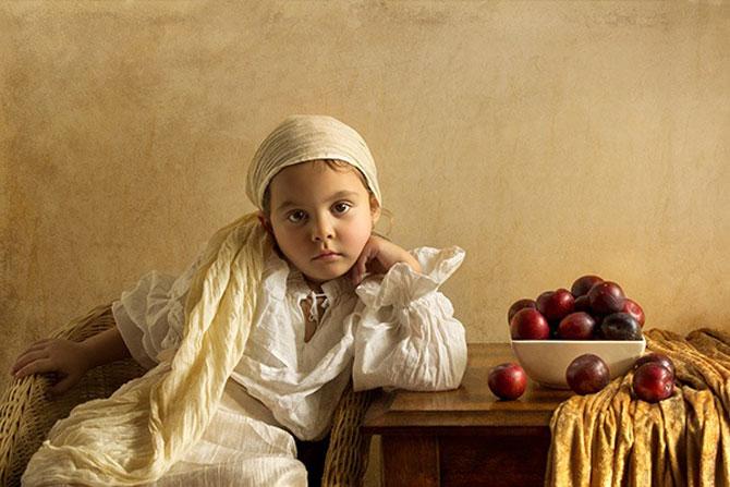 Poza 3 - Tatal care si-a fotografiat fetita in stil de tablou clasic