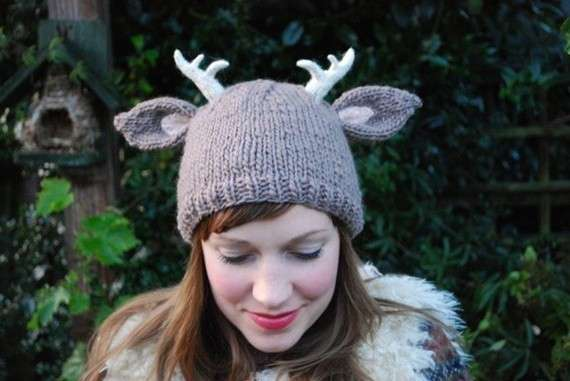 Deer With Little Antlers Knitting Pattern