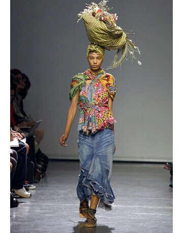 Africa-Inspired Headwear - Junya Watanabe's Towering Head Wraps