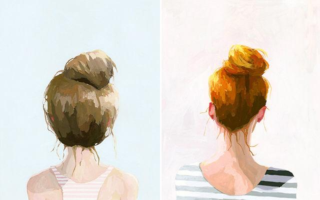 Charming Top Knot Illustrations Elizabeth Mayville