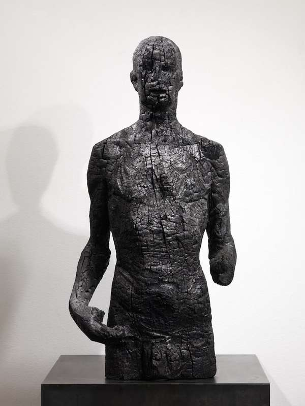 Metamorphous Charcoal Sculptures Aron Demetz