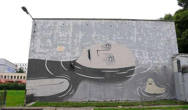 Social Commentary Graffiti Art Of Escif