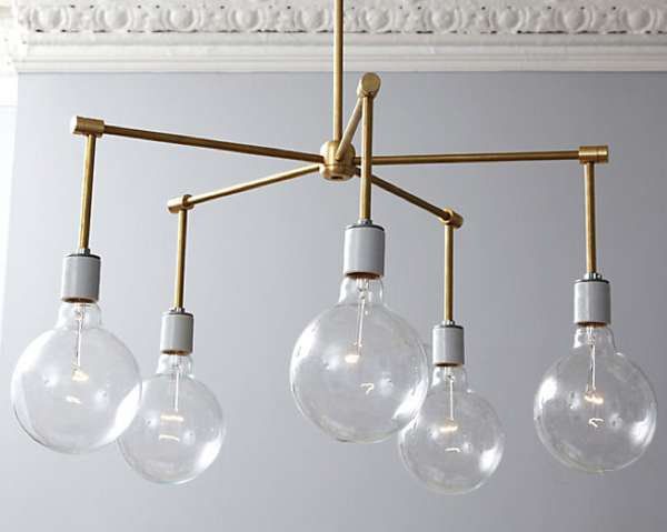 DIY Industrial Illuminators : Brass Chandelier