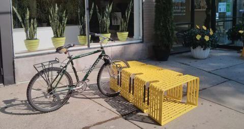 Sittable Bicycle Storage Buzz Bike Bench