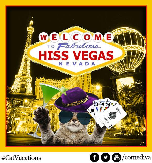 Fake Feline Travel Advertisements Cat Ads