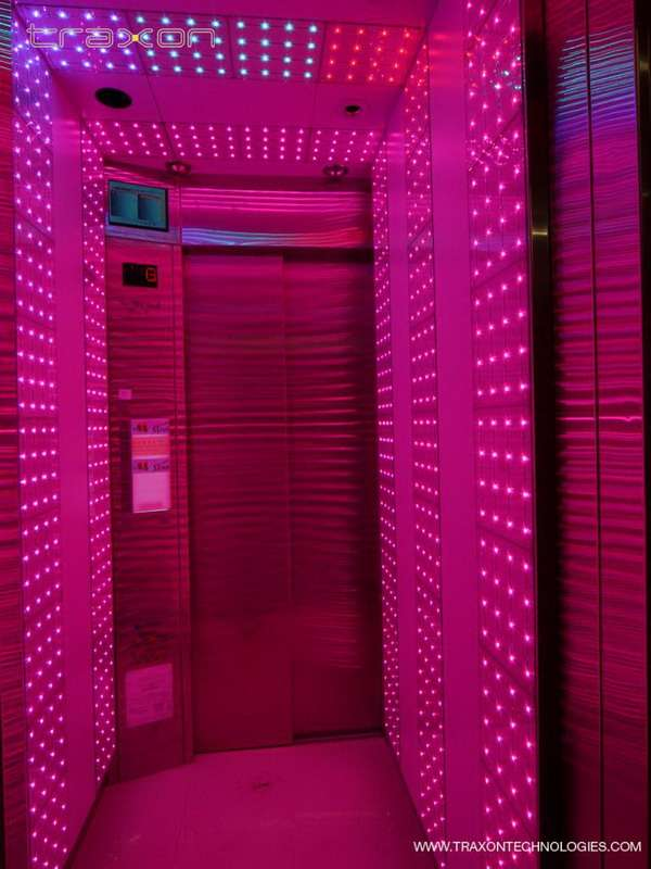 Color Changing Elevator Traxon LED Lifts