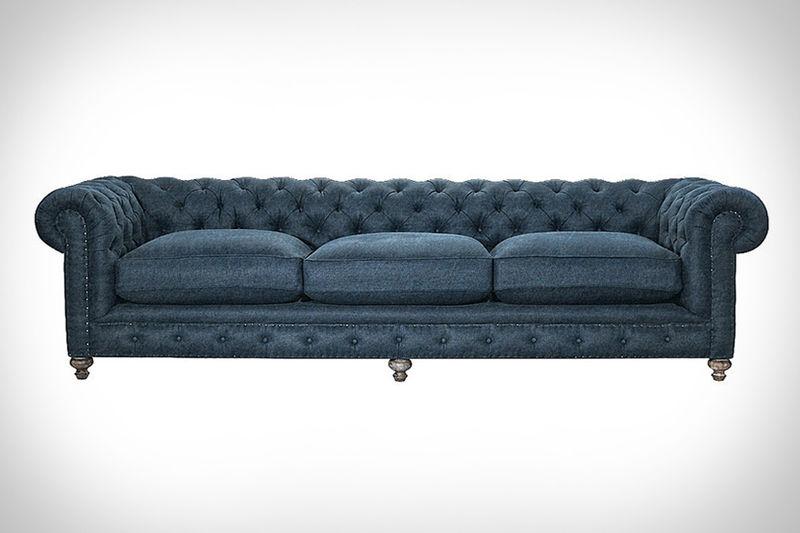 Feather Filled Denim Sofas Denim Sofa