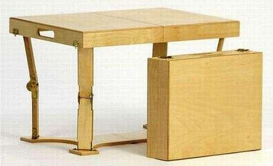 fancy folding furniture case coffee table