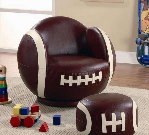 football shaped furniture football