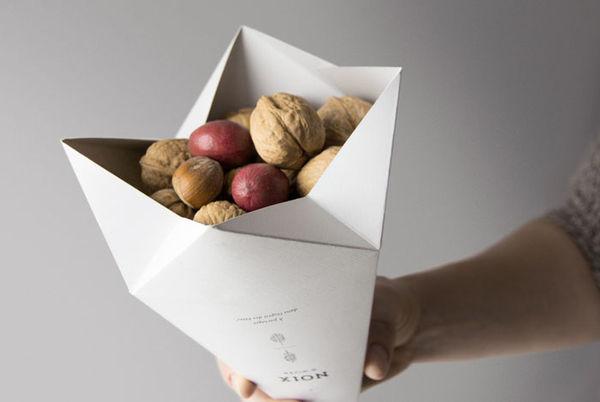 Origami Snack Packaging Gautiers Winter Nuts