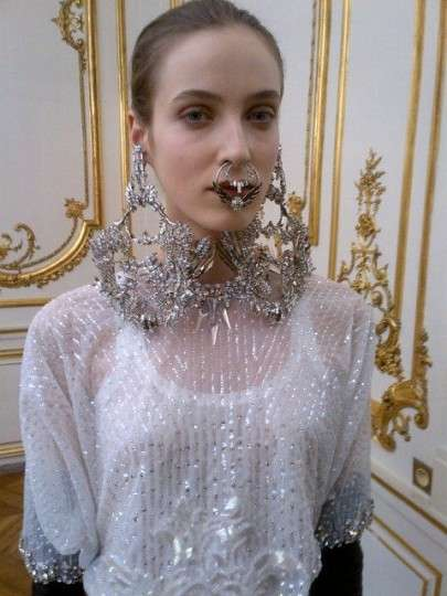 Fierce Facial Jewelry Shots Givenchy Spring 2012 Couture