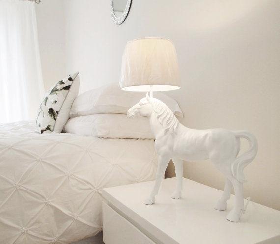 whimsical equestrian decor horse lamp