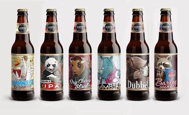 Anthropomorphic Beer Logos Humanized Animal