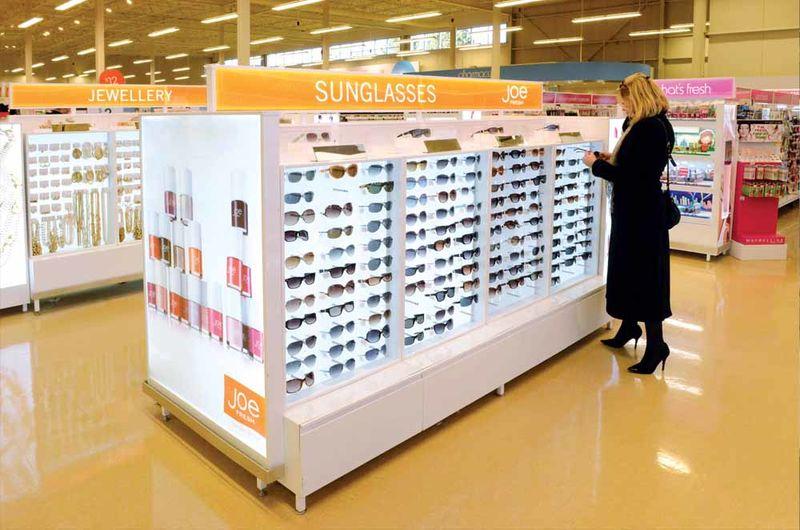 Sterile Sunglasses Displays Joe Fresh Store Display