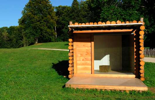 Tiny Timber Stack Shacks Lab Zero Yeta Log Cabin