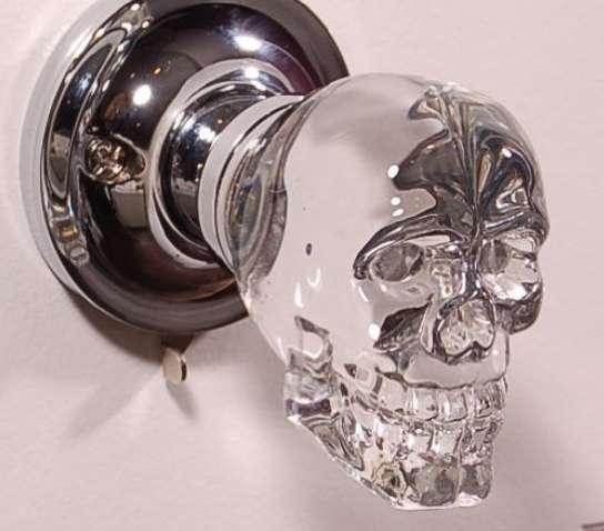 Spooky Skeletal Doorknobs LED Crystal Skull