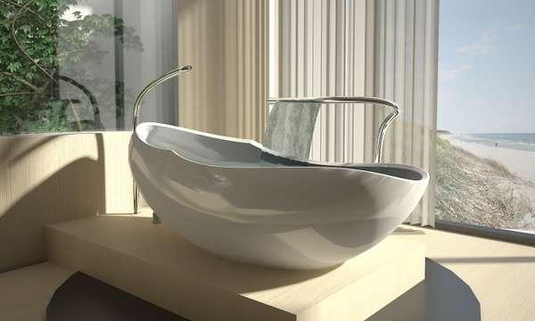 Egg Shaped Bathtubs This Luca Veneri Tub Will Envelop You
