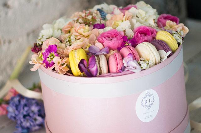Blooming Macaron Boxes Macaron Box