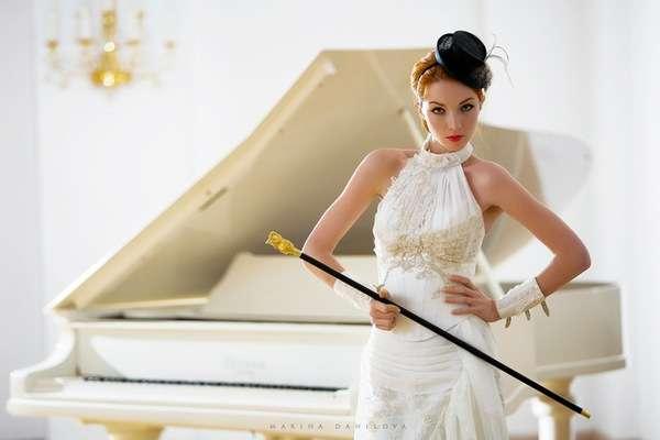 Masculine Bridal Gear Marina Danilovas Wedding Shoot