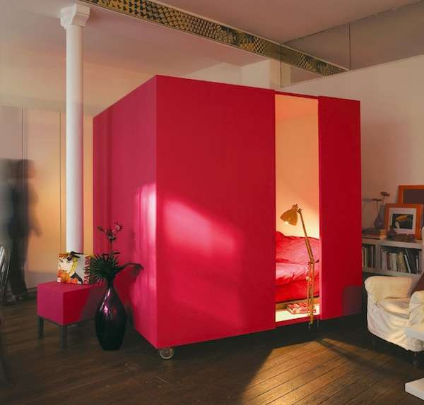 Portable Bedroom Blocks Mobile Bedcube