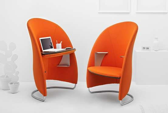 Adaptable Desk Armchairs Multifunctional Hully