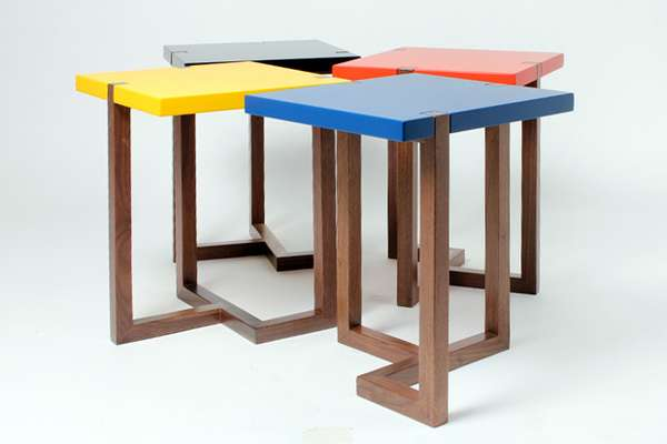 Simple Asymmetrical Furniture : Piet Side Table