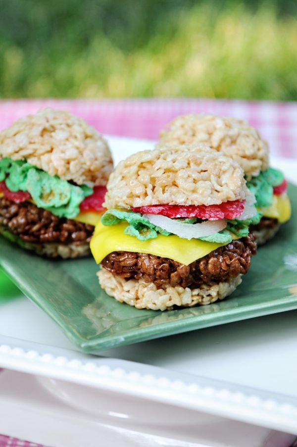 Deceptively Savory Desserts Rice Krispies Burger