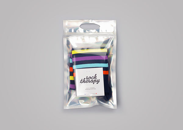 Recyclable Sock Packaging Sock Therapy
