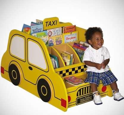 Kid Sized Cab Bookshelves Taxi Book Storage