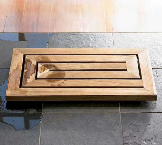 carved bamboo bath mats : teak bath mat by toiletfree