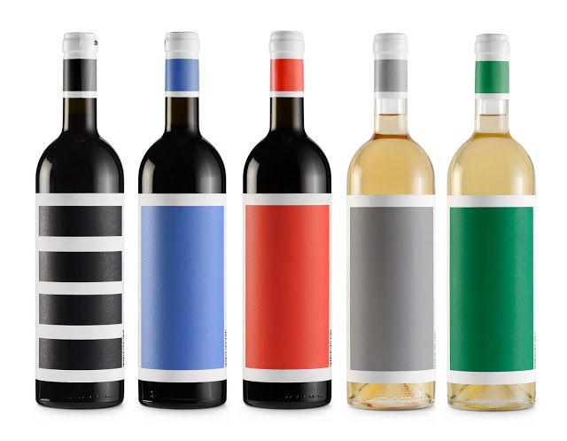 Colorblocked Wine Bottles : Unique Wine Bottle
