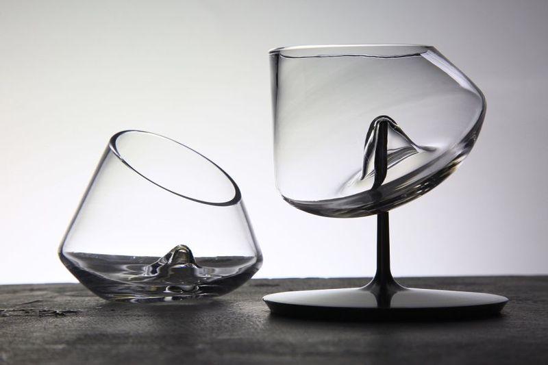 Spill Proof Yacht Barware Untippable Martini Glass