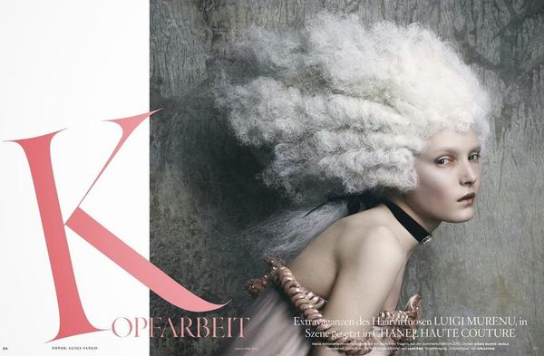 Marie Antoinette Inspired Editorials Vogue Germany April