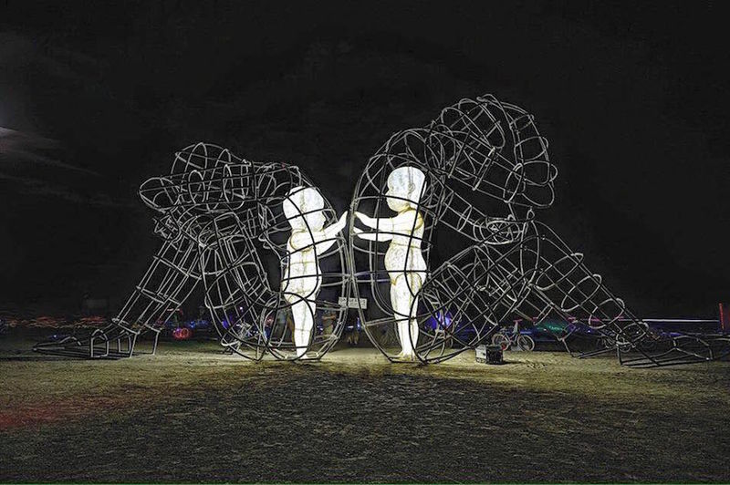 Dynamic Wire Frame Sculptures Wire Art Sculpture