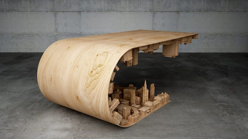 curved landscape tables wooden coffee