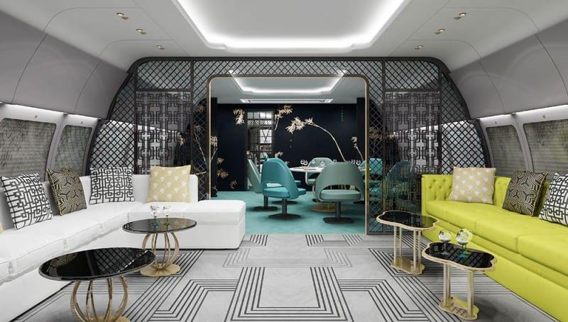 Luxury Living Best Private Jet Interior Designs
