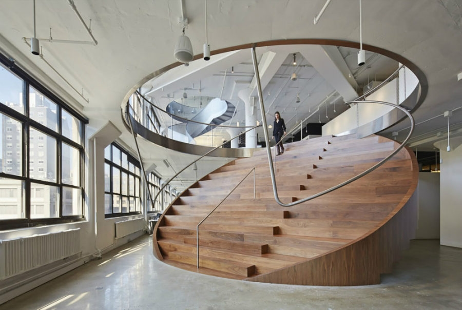 25 Staircase Designs That Are Just Spectacular   Round Staircase Designs Interior   Classic   Wooden   Elegant   Showroom   Round Shape Round