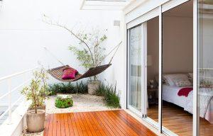 Balcony terrace hammock