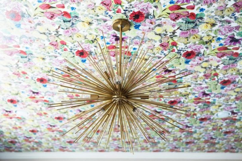 Floral ceiling by Abbe Fenimore