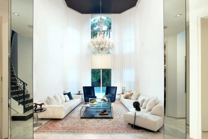 Octagonal high ceiling by DKOR Interiors