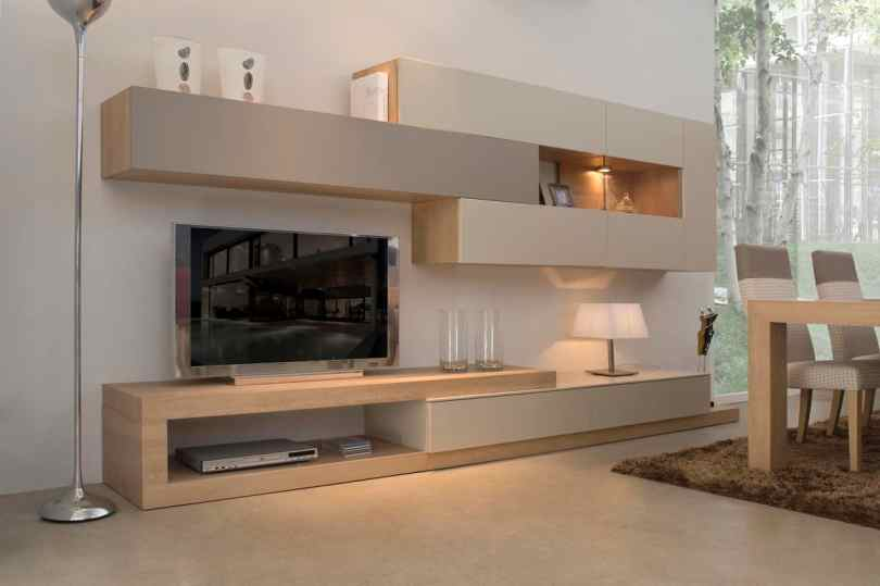 offset wall unit Show stopping Modern Wall Units for your Living Room