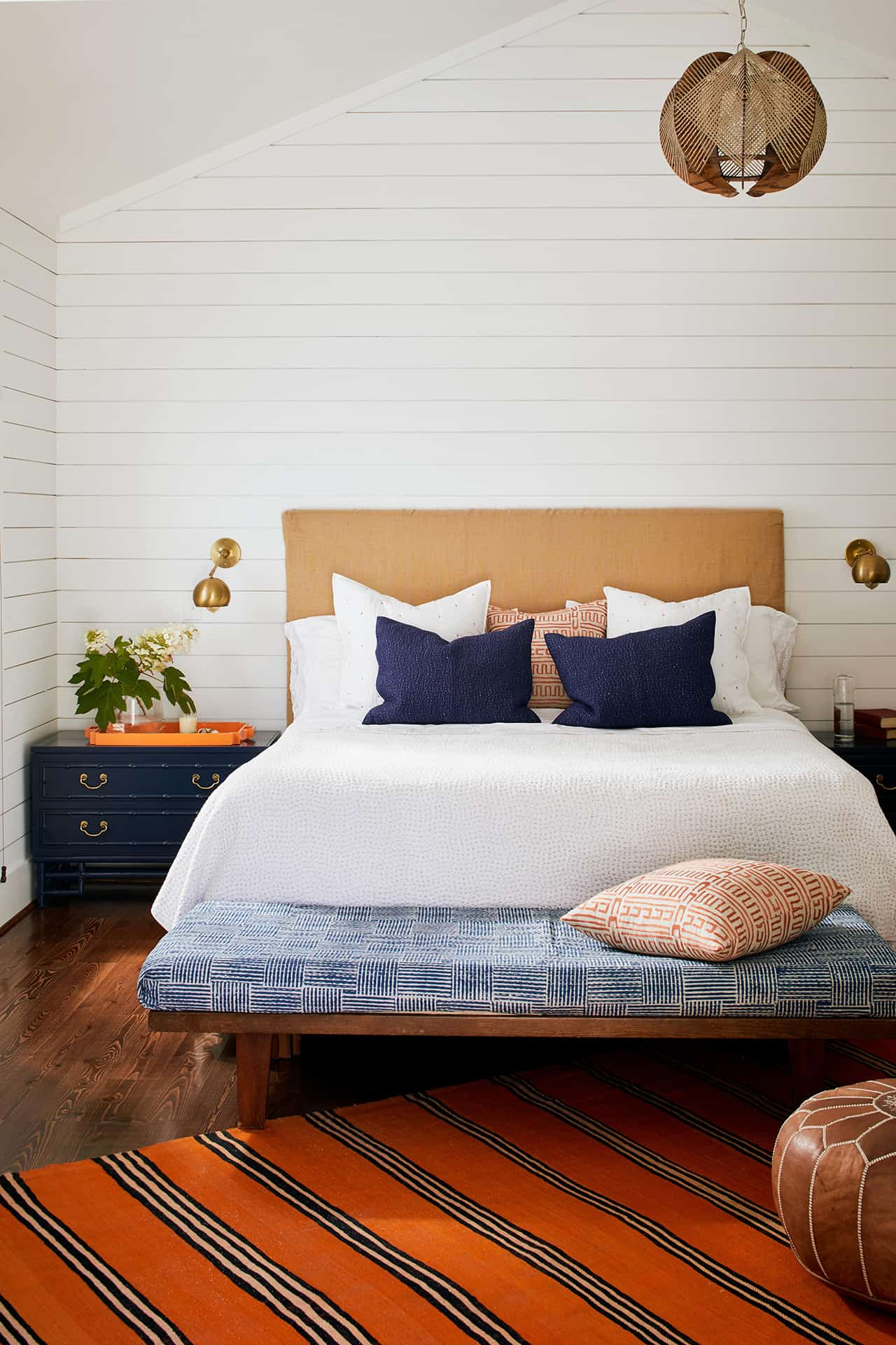 Charming Blue And White Bedrooms