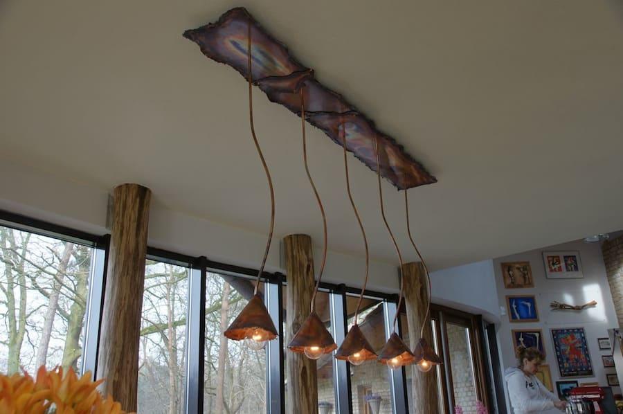 Red Pendant Light Kitchen