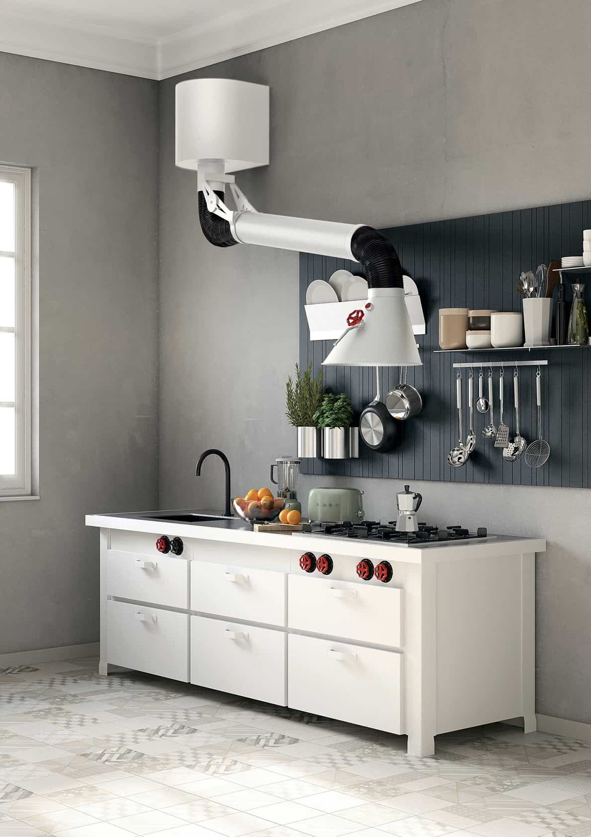 Best Kitchen Gallery: 2 Kitchens With Unusual Stove Hoods of Kitchen With Hood on rachelxblog.com